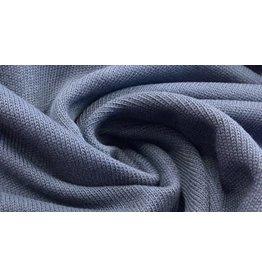 Strick navy blau fein