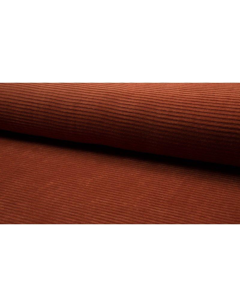 Cord dehnbar Jerseycord stone rost