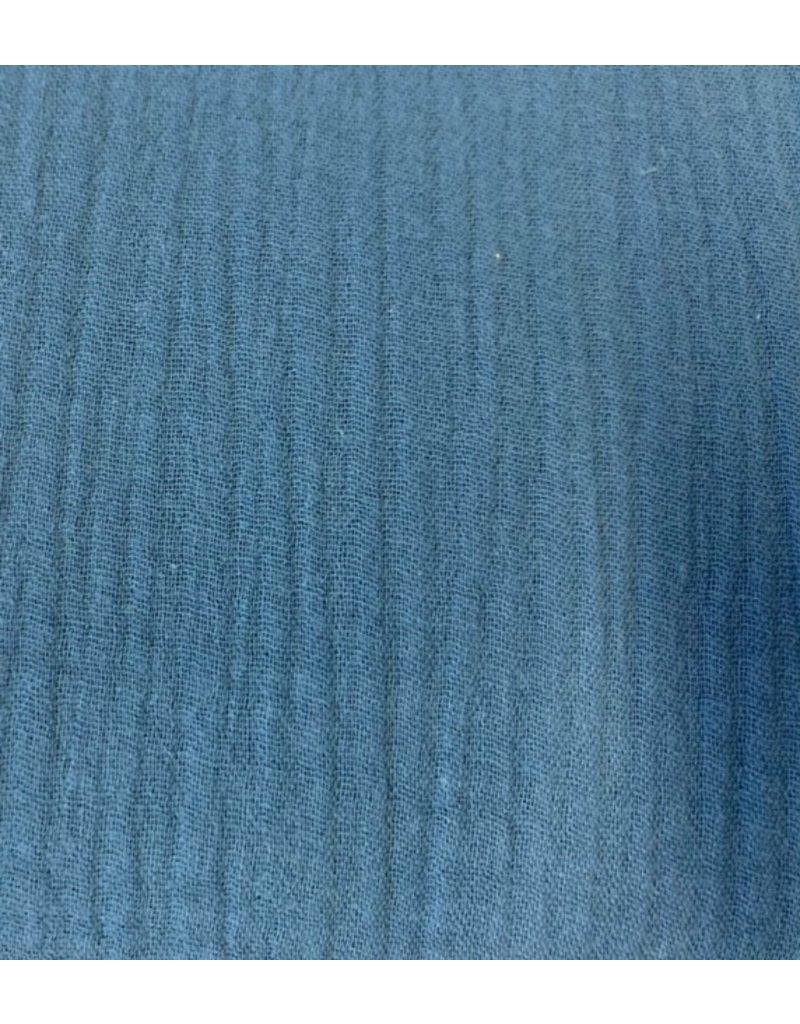 Musselin Uni blue Double Gauze - H