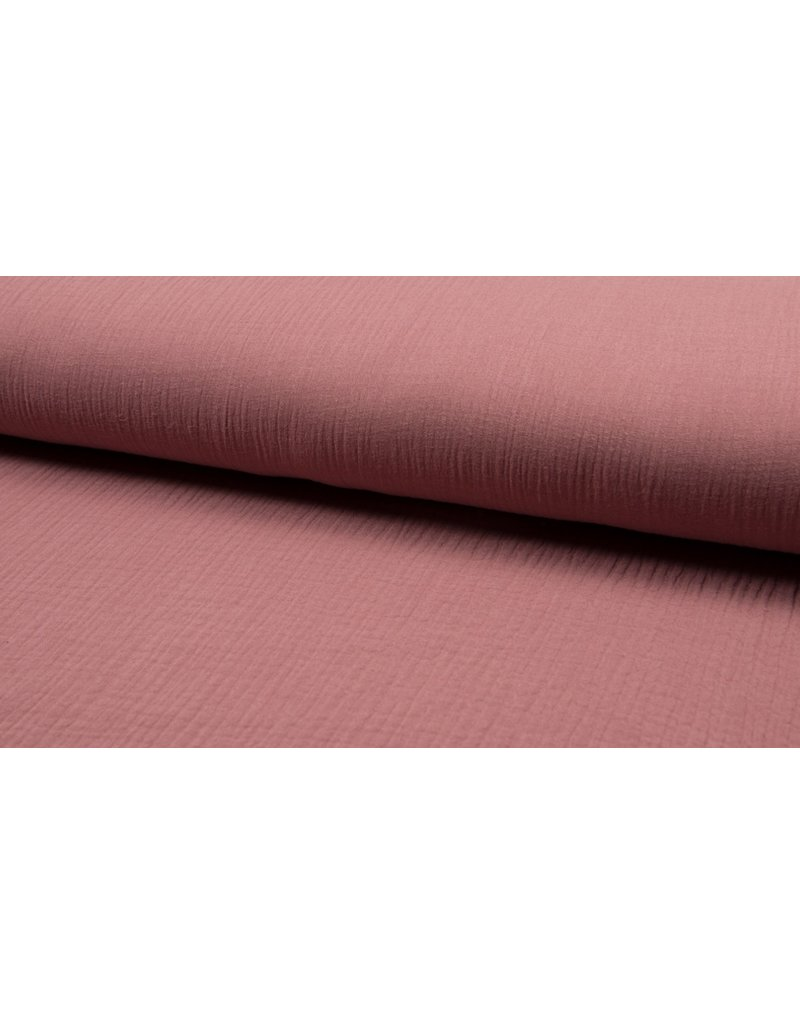 Musselin Uni old pink Double Gauze
