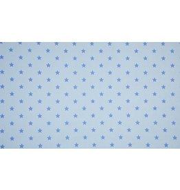 Bündchen Strickschlauch Motiv hellblau Sterne blau