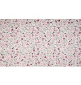 Baumwolle Motiv Digital Flowers fuchsia rose