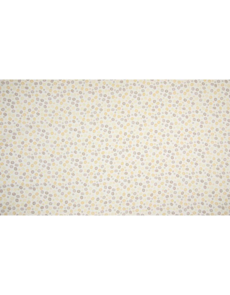Baumwolle Motiv Dots ochre organic