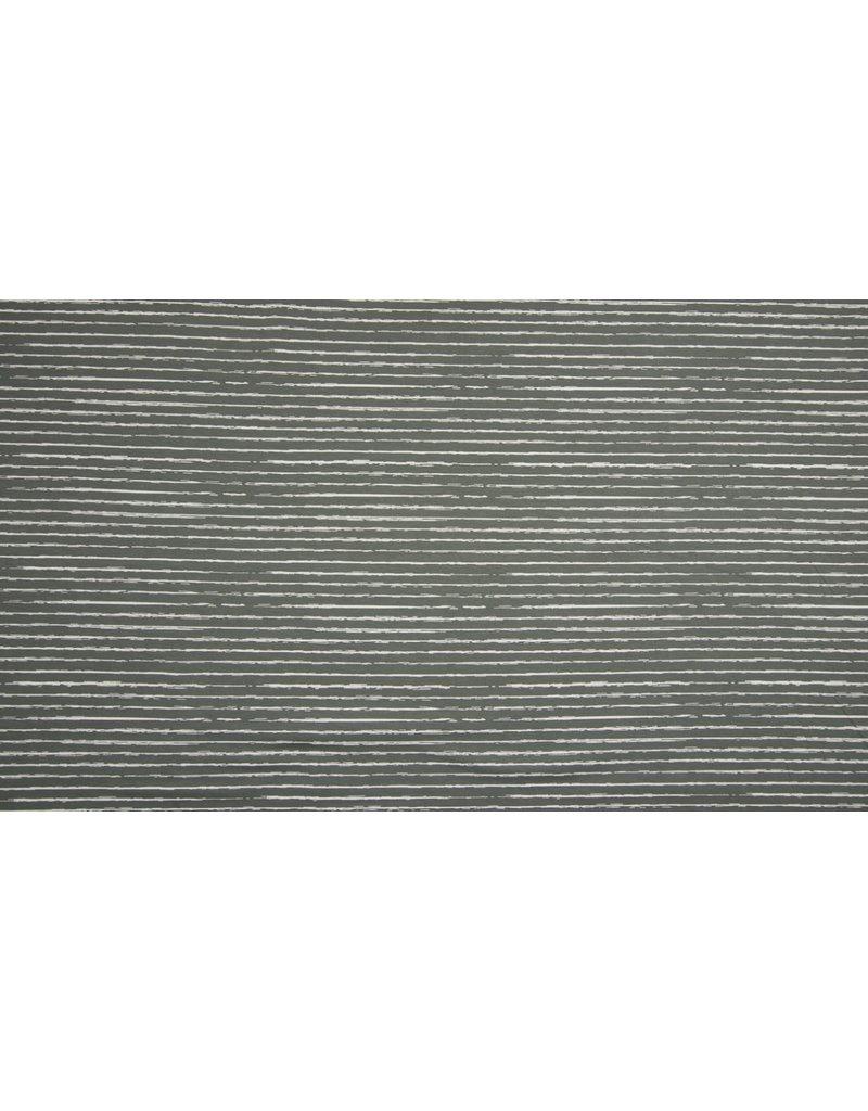 Baumwolle Motiv Streifen grau weiß
