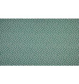 Baumwolle Motiv Triangles Dreiecke dusty green