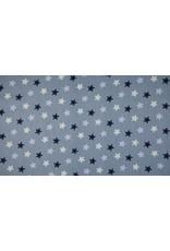 Baumwolle Motiv bunt Sterne dusty blue