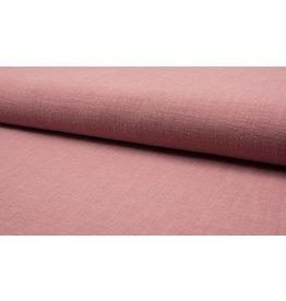 Leinen uni dark old pink