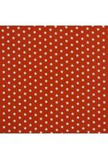 Baumwolle Motiv kleine Sterne terra weiß