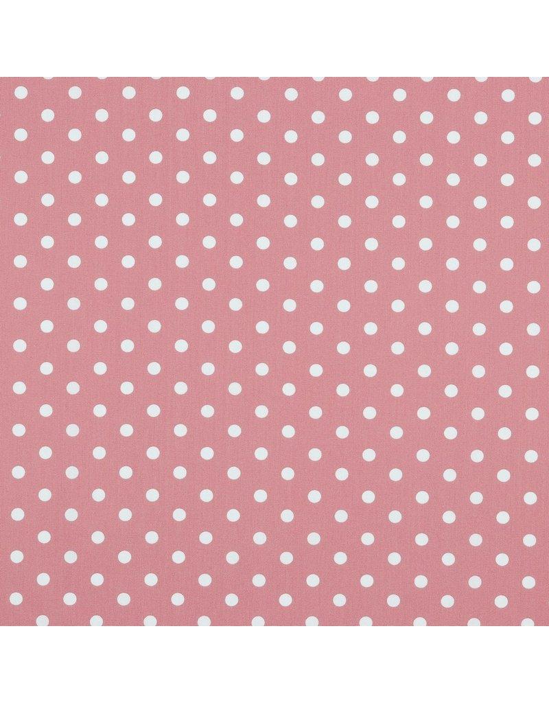 Baumwolle Motiv Punkte blush weiß