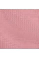 Baumwolle Motiv kleine Punkte blush weiß