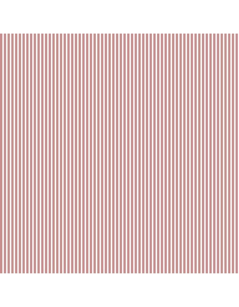 Baumwolle Motiv Längsstreifen blush weiß