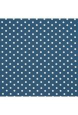 Baumwolle Motiv Punkte blue weiß