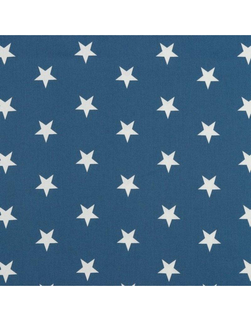 Baumwolle Motiv Sterne blue weiß