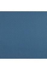 Baumwolle Motiv kleine Punkte blue weiß