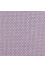 Baumwolle Motiv kleine Punkte lilac weiß