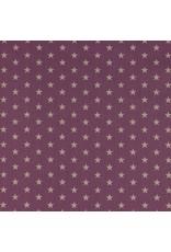 Baumwolle Motiv kleine Sterne mauve weiß