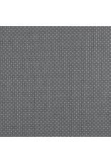Baumwolle Motiv kleine Punkte grau weiß