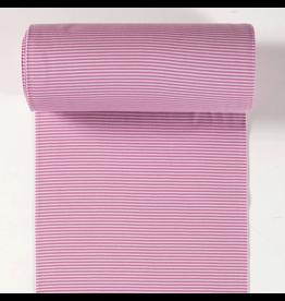 Bündchen old pink altrosa rosa Streifen 2mm Strickschlauch