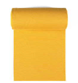 Bündchen oker senf Streifen 2mm Strickschlauch