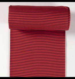 Bündchen rot dunkelrot Streifen 5mm Strickschlauch