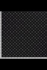 Baumwolle Motiv Schachfiguren schwarz gold weiß Rauten