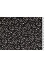 Baumwolle Motiv schwarz weiß Geometrische Formen