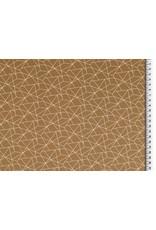 Baumwolle Motiv Senf weiß Geometrische Formen