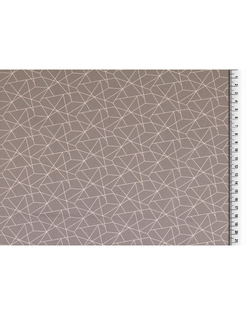 Baumwolle Motiv hellgrau weiß Geometrische Formen