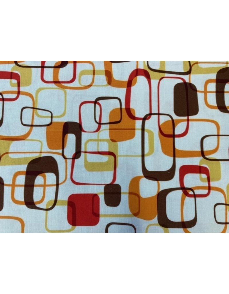 Baumwolle Kurt Frowein Retro Kitchen orange rot braun