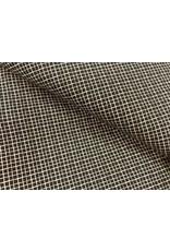 Baumwolle Motiv schwarz Rauten weiß