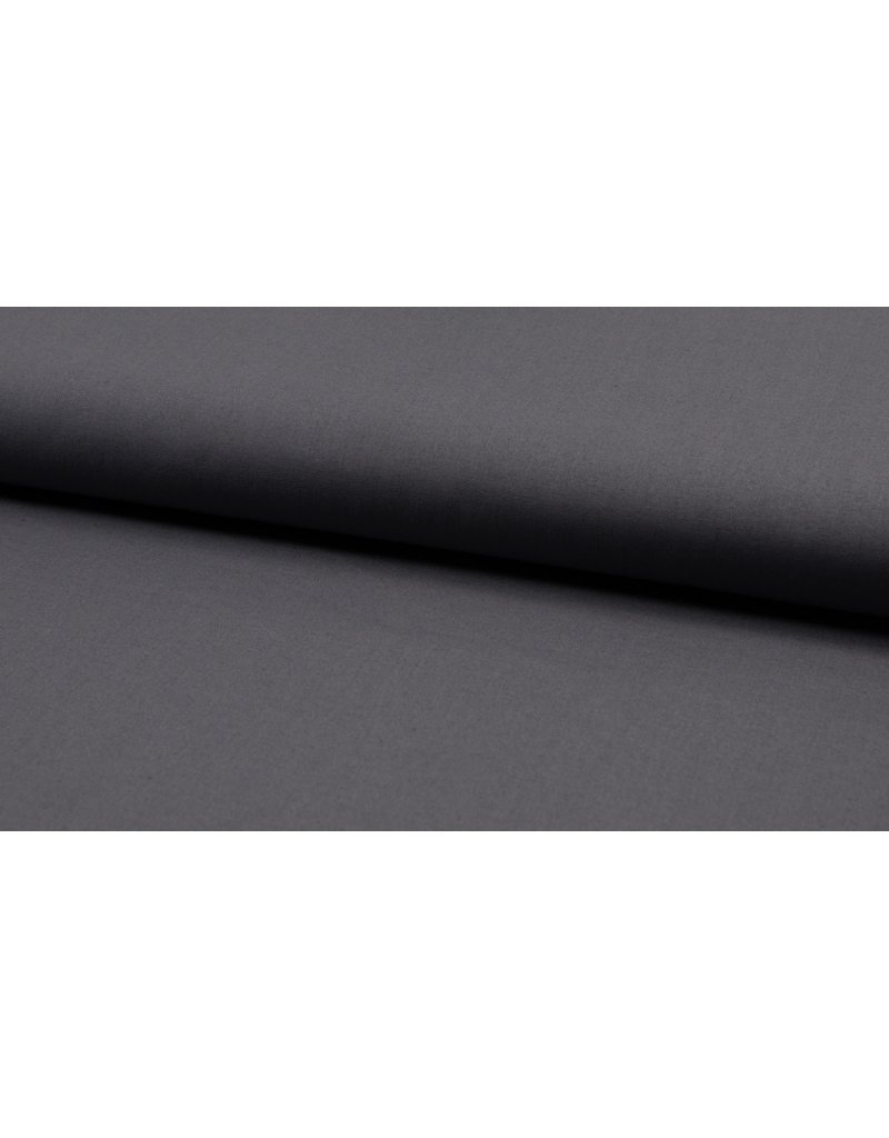 Baumwolle Uni dark grey dunkelgrau
