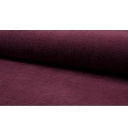 Fleece Baumwolle bordeaux