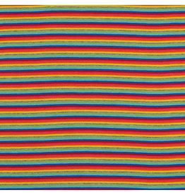 Bündchen Uni Regenbogen Streifen
