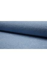 Frottee uni dusty blue