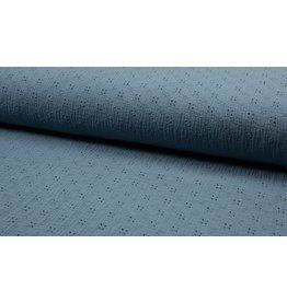 Musselin Spitze Motiv dusty blue