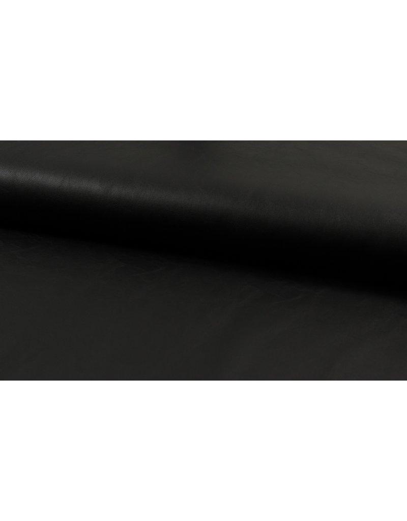 Kunstleder Lederimitat schwarz matt