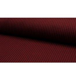 Bündchen Uni heavy rib breitgerippt Strickbündchen rot