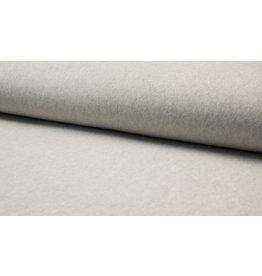 Baumwollfleece Organic Cotton hellgrau meliert