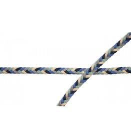 Kordel Multicolor navy blau grau mint beige  8mm Col. 506