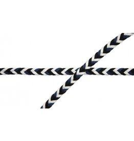 Kordel Multicolor navy schwarz weiß 8mm Col. 569
