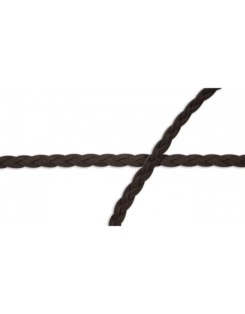 Kordel geflochten Lederoptik Brown 10 mm Col. 558