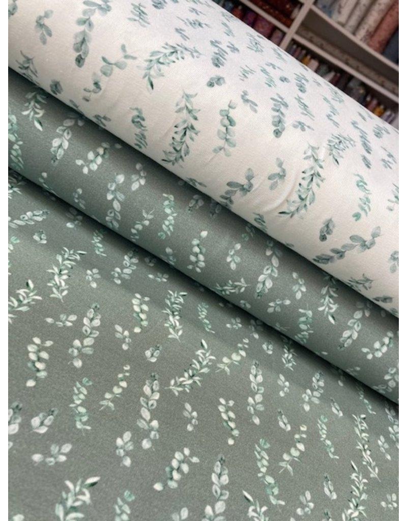Jersey Motiv Digital Eucalyptus dusty green
