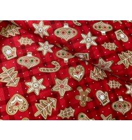 Baumwolle Kurt Frowein Vintage Holidays Pfefferkuchen rot