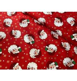 Baumwolle Kurt Frowein Vintage Holidays Weihnachtsmann rot