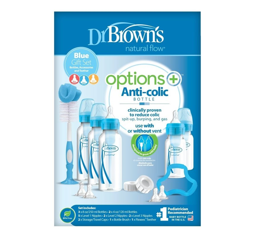 Dr. Brown's Options+ Anti-colic standaardfles | Giftset