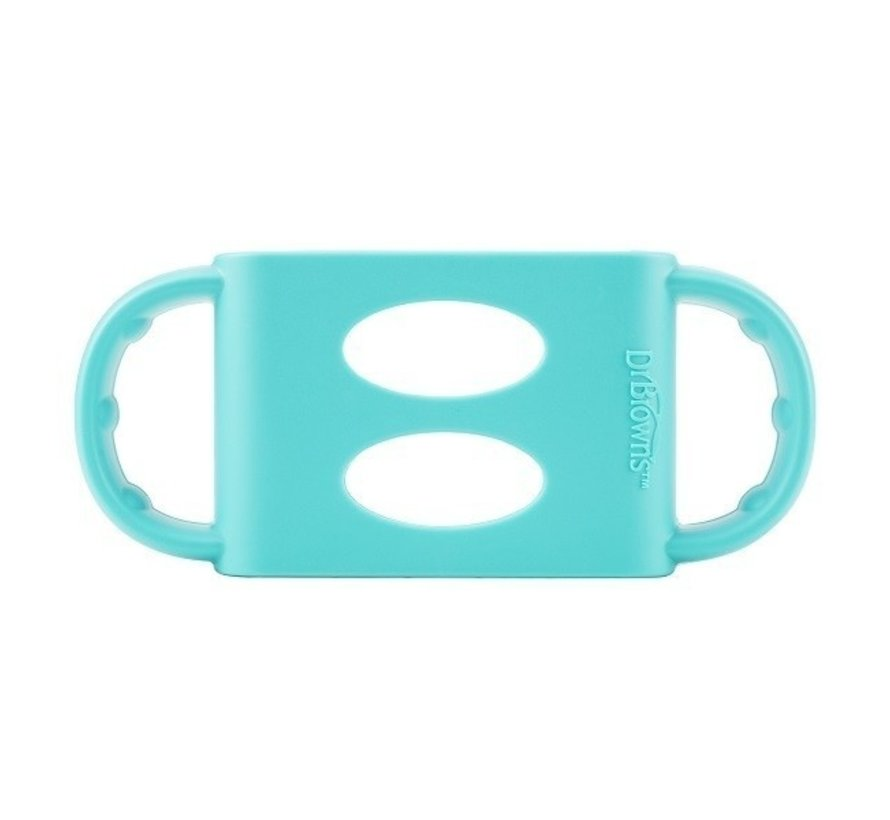 Siliconen handles brede halsfles turquoise