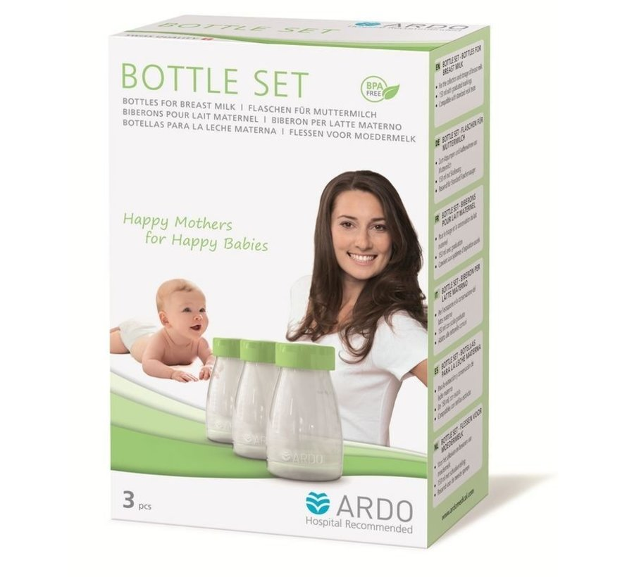 Ardo Bottleset 150ml 3 pack | Borstvoedingsflesjes