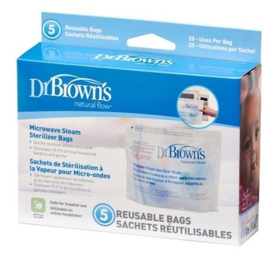 Dr Browns Magnetron sterilisatie zakjes (5 stuks)