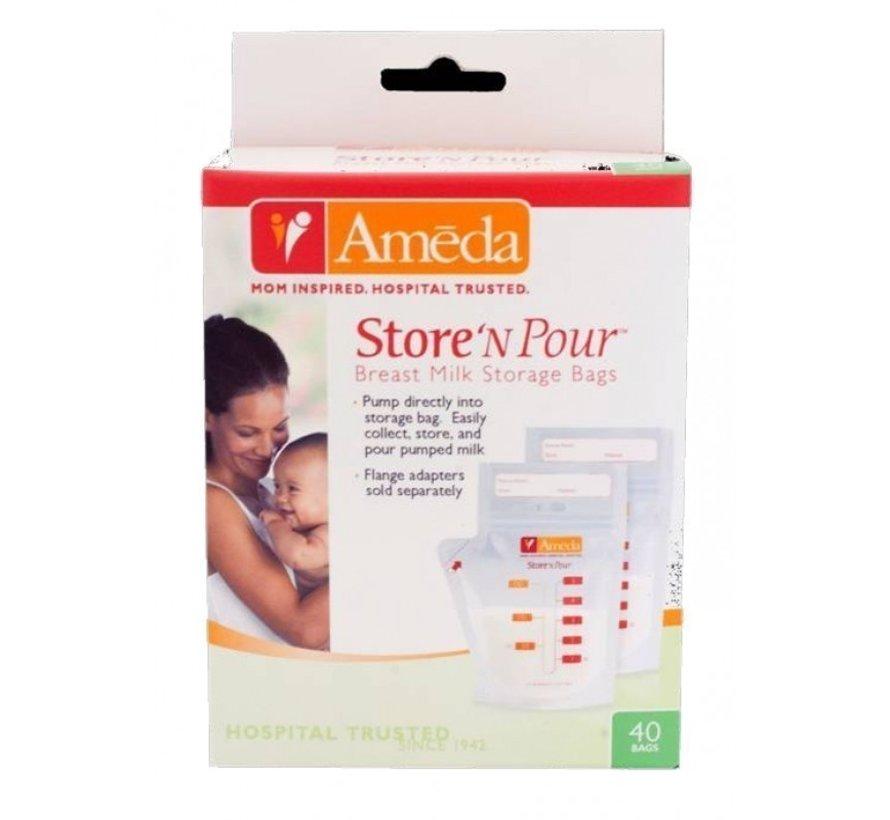 Ameda Store'n Pour moedermelk bewaarzakjes 40stuks