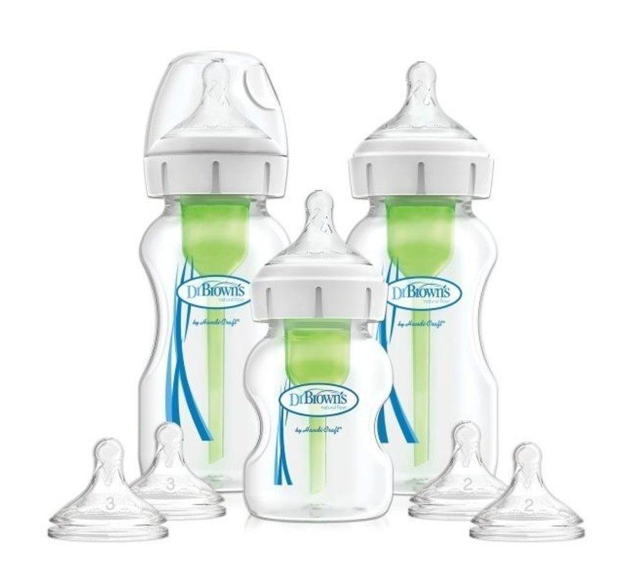 Dr. Brown's Options+ Anti-colic Bottle | Startpakket (brede hals)